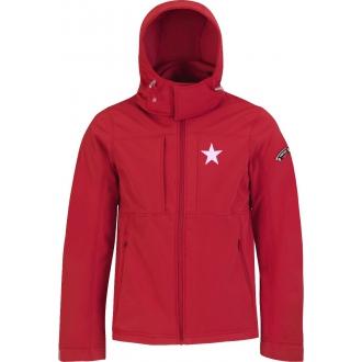 Jacket Softshell WS Red Kids